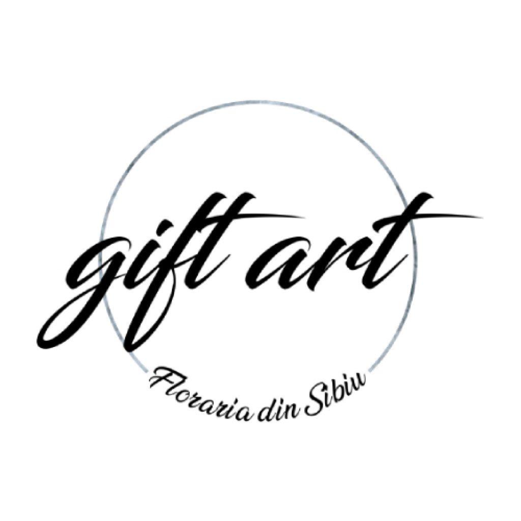 Logo al Florăriei Gift Art din Sibiu, membră AADF
