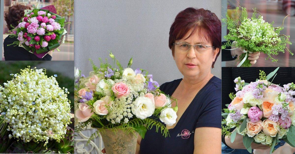 Adina Dăncianu, florist, membru al Asociației Antreprenorilor din Domeniul Floristic din România