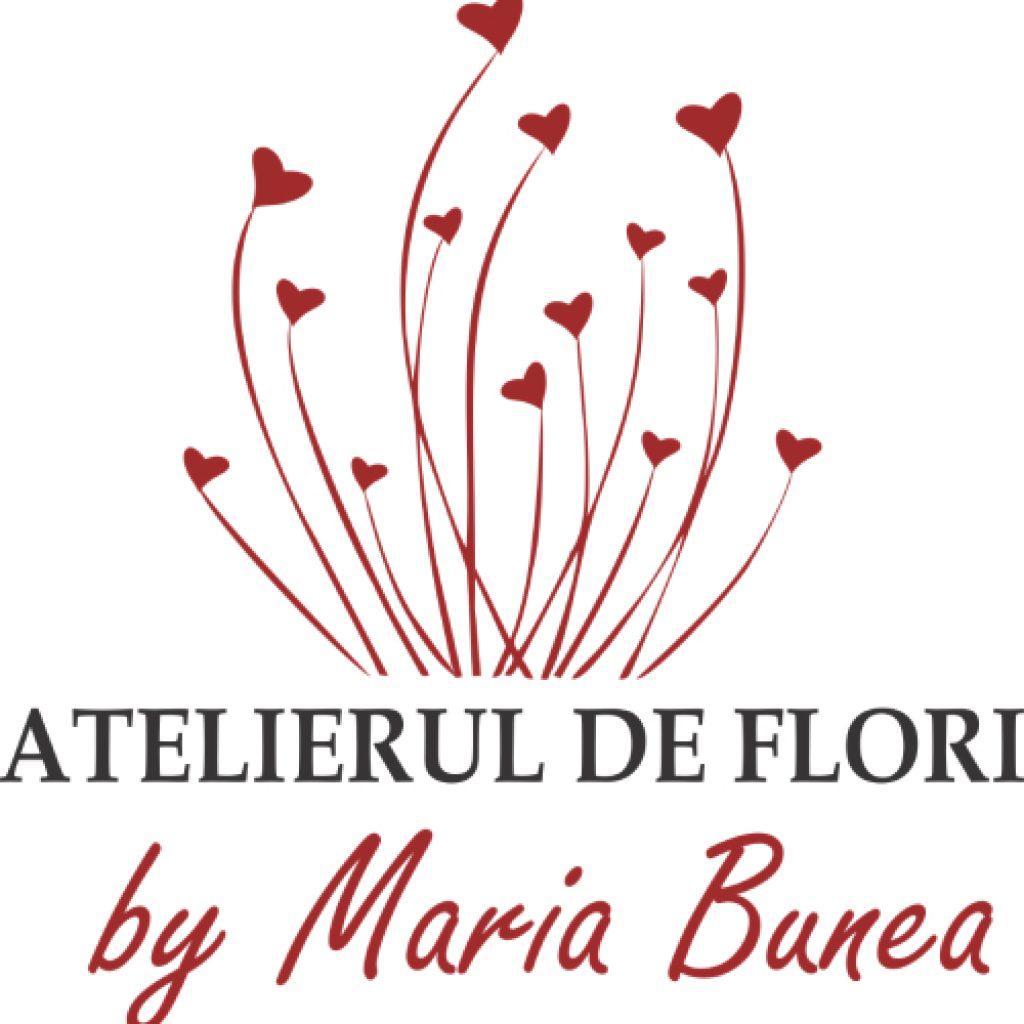 Logo al Atelierului de flori By Maria Bunea din Târgu Mureș