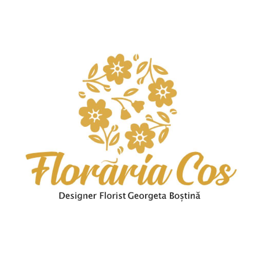 Logo al Florăriei Cos din Drobeta Turnu Severin